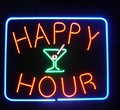 Пользовательские счастливый час открытый стеклянный неоновый свет знак пивной бар