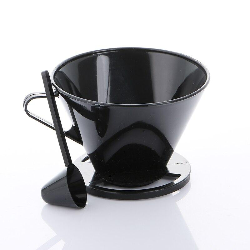 Realand plastique noir tasse unique verser sur café brasseur brassage cône goutteur machine à café filtre outil