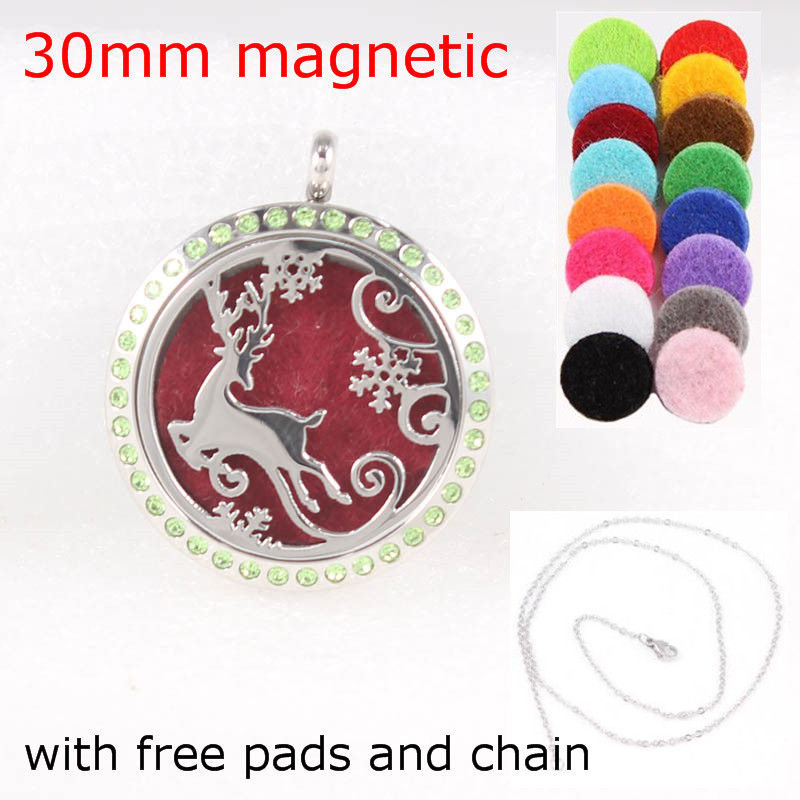 With chain Pads as gift Music Notation 30mm Aromatherapy Essential Oils Stainless Steel Perfume Diffuser Locket Necklace in Pendants from Jewelry Accessories