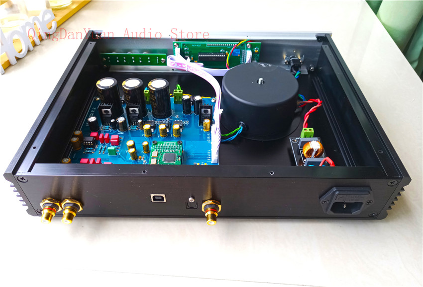 Q7 AK4497 AK4497EQ Audio DAC Decoder Finished in case Support 192k 24bit DSD128 in Amplifier from Consumer Electronics
