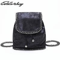 Women Mini Chain Backpack Bags Trendsetter College Wind Small Bag Fashion Shoulder Travel Bags Middle School