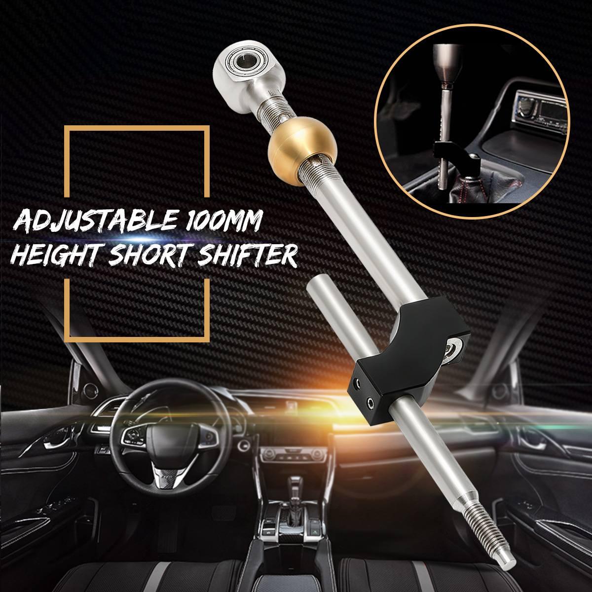 Réglable 100mm Hauteur Court manette de vitesse pour Honda Civique En Acier Inoxydable En Aluminium Hauteur Hauteur Double Court Manette de vitesse vitesses avant