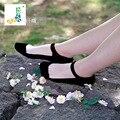 10 Пар Секс Шелка Фондовой Кружевные Носки Кристалл CottonAnti бокового заноса Прозрачный Черный Серый Белый Марка Качество Женщины Носки