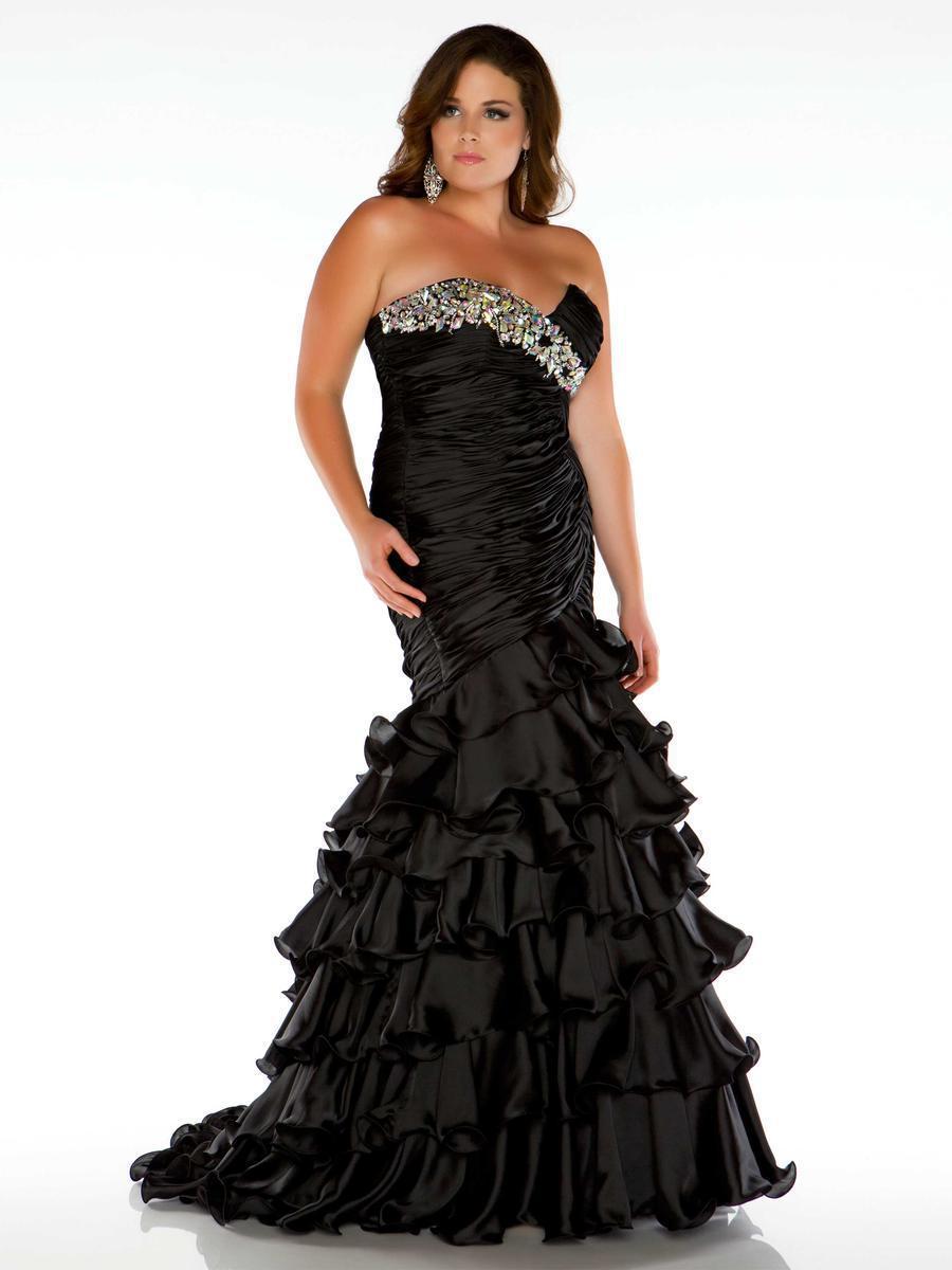 Black mermaid plus size dress – Womans wallet and dresses