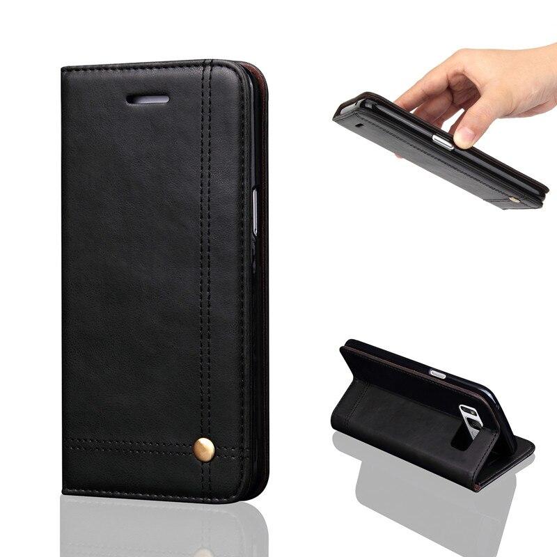 Estojo De Couro Vintage Para Samsung Galaxy S8/S8 Mais Magnético cartão Da Carteira Flip Tampa Da Caixa Do Telefone Para Samsung Galaxy Note 8 Coque