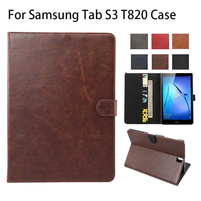New Luxury PU Leather Case for Samsung Galaxy Tab S3 9.7 T820 T825 Flip Stand Cover Tablet Case for Samsung Galaxy Tab S3 T820 crocodile pattern luxury pu leather case for samsung galaxy tab 4 8 0 t330 flip stand cover for samsung tab 4 8 0 t330 sm t330
