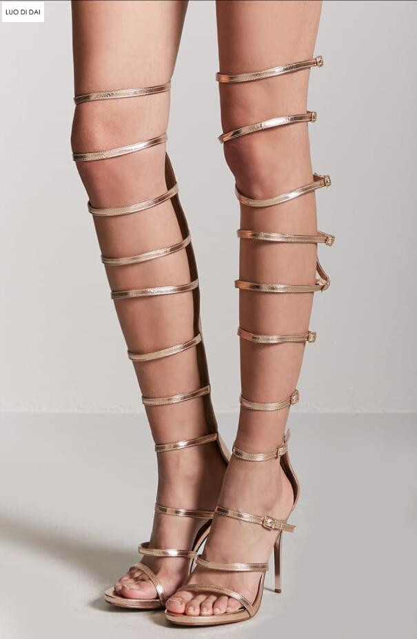 Metallic Gladiator Heels