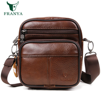 100 Top Cow Genuine Leather Versatile Casual Shoulder Men Messenger Bags For Men Leather Handbags Mini