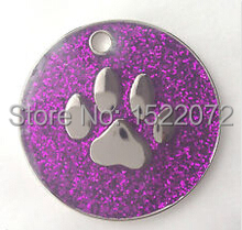 New fashion low price Personalised DOG CAT PAW PRINT Purple  FH890047