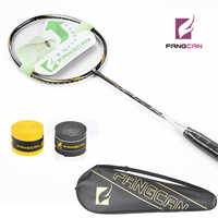 2pcs/lot 100% Carbon New Listing FANGCAN TURBO CHARGING N9 Badminton Racket With String Black Defensive type racquet