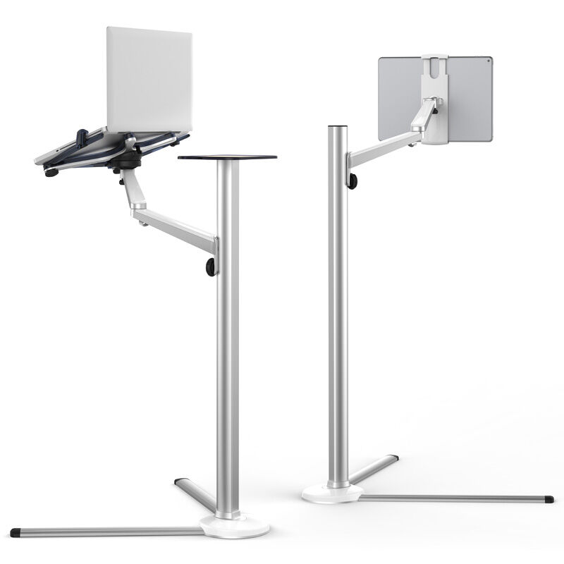 UP 8 Height Adjustable 3 in 1 Mobile Phone Tablet Laptop Floor Stand Aluminum Rotating Lazy
