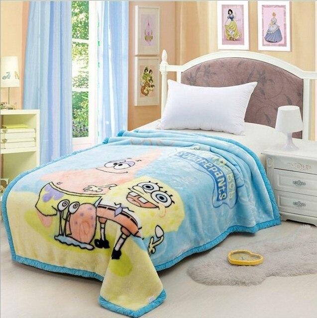Бесплатная доставка рашель руно мультфильм одеяло 4 слоя утолщение мягких ребенок детское одеяло осень зима сезон 150x200 см 2000 г