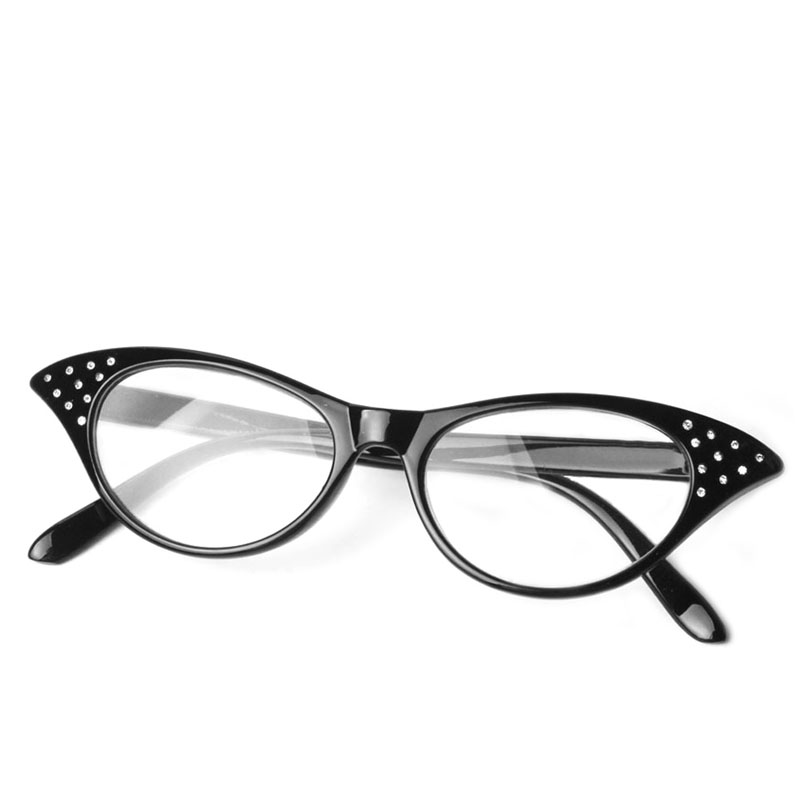 Cat Eye Women Reading Glasses Resin Crystal Rhinestone Decoration Glasses-W7 10 ...