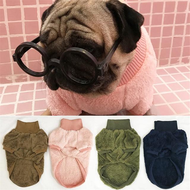 Eyedog French Bulldog Clothes Pug Clothing Winter Dog Coat Hoo Schnauzer Frenchie Pet Arel Drop Shipping