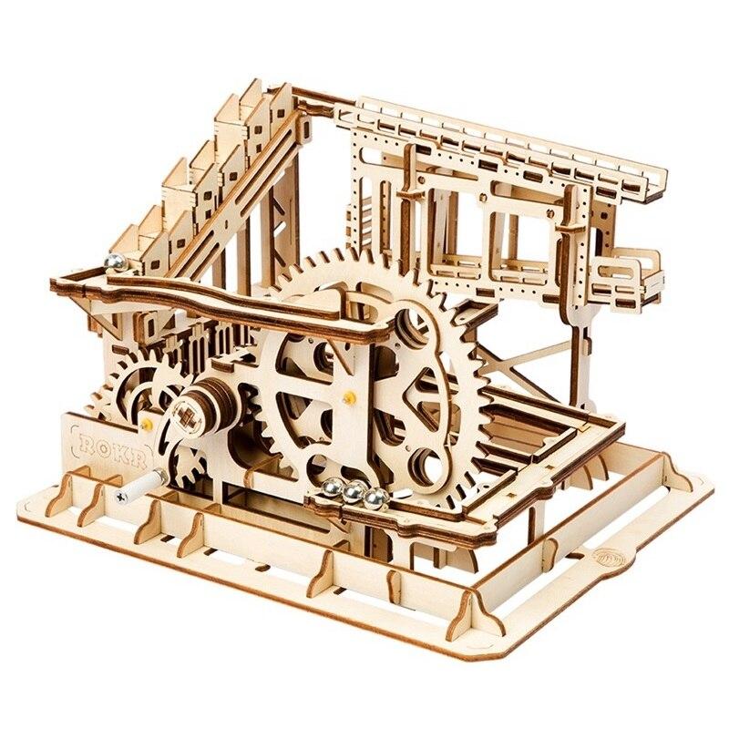 Robotime DIY Cog Coaster магия творческий Мрамор запустить игру деревянная модель строительные Наборы сборки игрушка в подарок для детей и взрослых ...