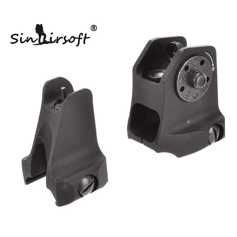 SINAIRSOFT A1.5 Fixed Rear Sight A1 Windage Adjustment Knob And Standard A2 Design Front For Airsoft Picatinny AR15 Iron SA4208 vocabulario elemental a1 a2 2cd