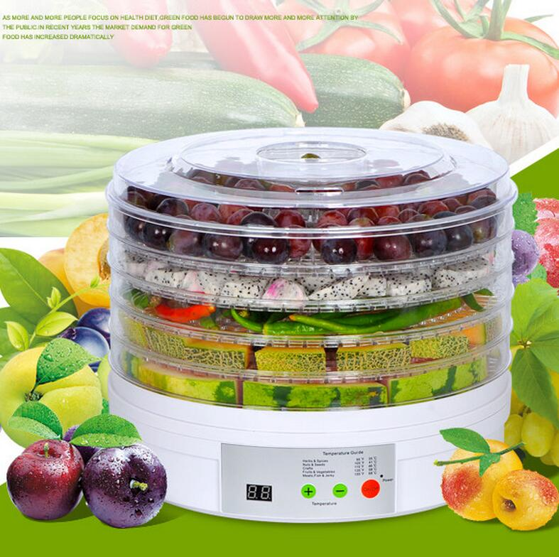 5 trays 245W food fruit dehydrator drying fruit machine home food dryer dehydrator with timing function and temperature control 5 trays 245w food fruit dehydrator drying fruit machine home food dryer dehydrator with timing function and temperature control