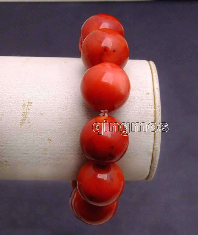 SALE GENUINE Big 16-17mm high quality round natural Red Coral 8