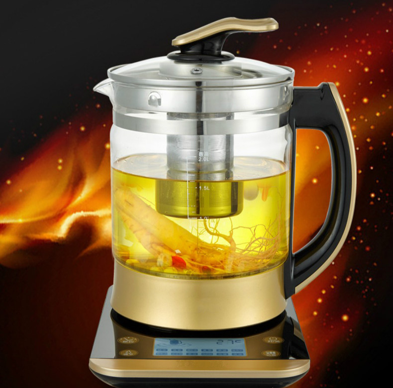 Electric kettle health pot fully automatic Add thick glass multi-functional boiling tea pot raise body Overheat Protection health pot mini automatic thickening glass multi purpose tea kettle flower tea pot boiling pot electric kettle