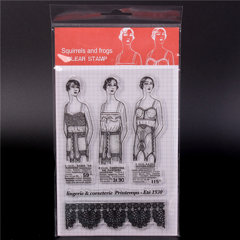 Magazine girl  Transparent Clear Silicone StampSeal for DIY scrapbookingphoto album Decorative clear stamps