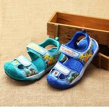 Dinoskulls динозавров обувь для мальчиков сандалии детские летние сандалии с закрытым носком сандалии противоскользящие модная детская одежда Повседневное пляжные сандалии
