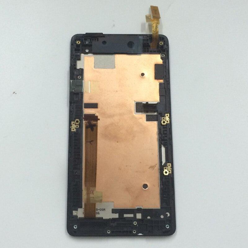 imágenes para Pantalla Táctil negro Digitalizador Asamblea Lente de Cristal + Pantalla LCD del Panel Del Monitor Del Sensor Con El Marco Para HTC Desire 600