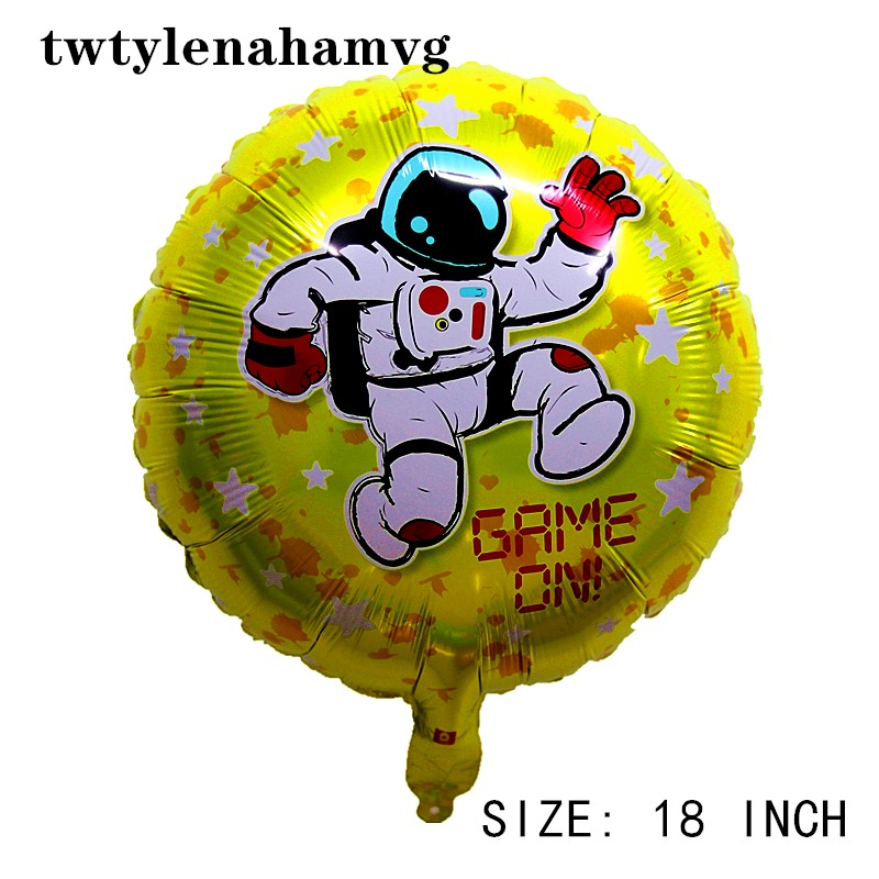 Outer space astronaut foil ball decorate Planet explore partner holiday children's toy GAME ON boy HAPPY BIRTHDAY party balloon image