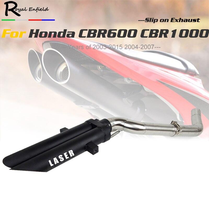 CBR600rr CBR1000 Moto système d'échappement pour Honda cbr 600rr cbr1000 f5 avec En alliage D'aluminium double d'échappement moto tip pipe