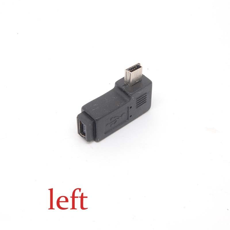 Premium Mini USB Male Left-Angle To Mini USB Female Cover Adapter Converters New