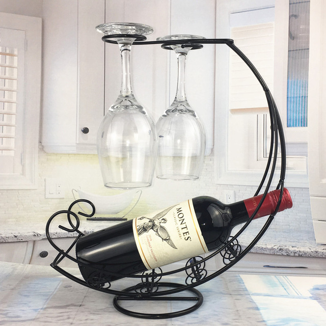 Creative Metal Wine Rack Hanging Wine Glass Holder Bar Stand Bracket Display Stand Bracket Decor  3