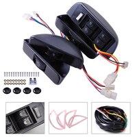 Car 12V Universal Grey Power Window Lock Kit 4 Rocker Switch Car 4 Doors Fit For