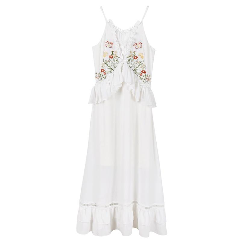 2018 nuevo verano Chiffon falbala femenino Senor pastoral dulce vestido 01089 - 5