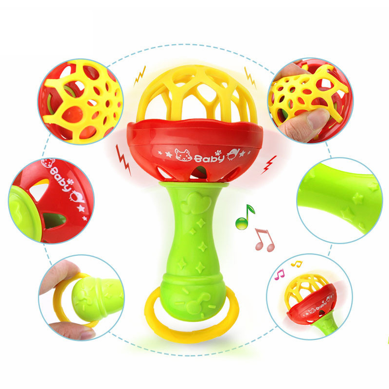 Baby Rattles Training Toys Silicone Cartoon Teether Kids Safety For Infant Teething Toy