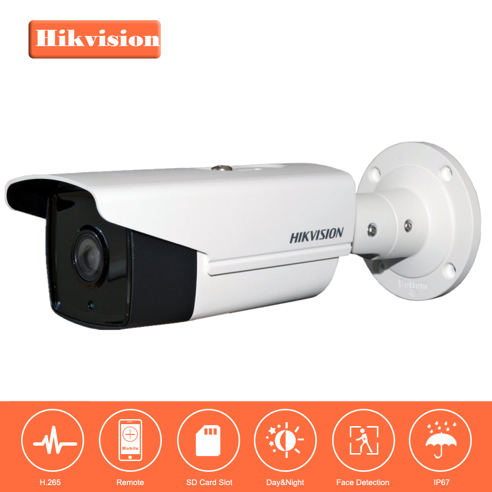 Hikvision Released H.265 IP Camera DS-2CD2T35FWD-I8 3MP Ultra-Low Light Network Bullet Camera Replace for DS-2CD2T35-I5 hikvision 3mp low light h 265 smart security ip camera ds 2cd4b36fwd izs bullet cctv camera poe motorized audio alarm i o ip67