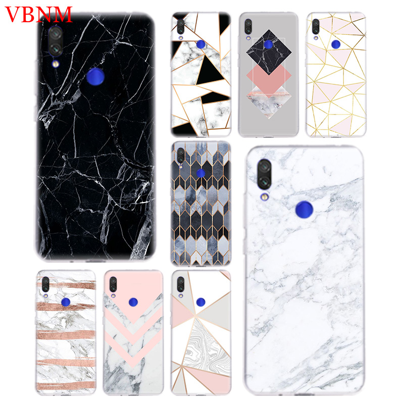 Marble Grain Simplicity Phone Back For Xiaomi Redmi Note 4 4X 5 5A 6 7 Pro Redme S2 GO Gift Art Patterned Customized Cases