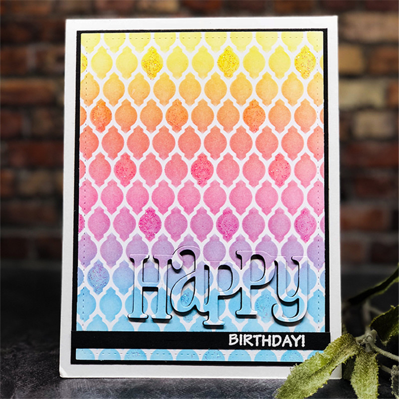 Eastshape Happy Word Metal Cutting Dies For Scrapbooking Paper Card For Making Festival Album Craft Die Cut 2019 New Decoration in Cutting Dies from Home Garden
