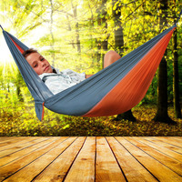 6 Colors 2 People Portable Parachute Hammock Camping Survival Garden Flyknit Hunting Leisure Hamac Travel Double