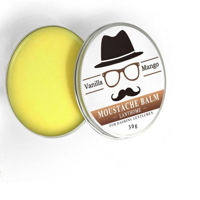 2018 New arrival 1box Men Beard Balm Leave Moisturizing Care Cream Beard Care Lubricating Cream 30g #02684 1
