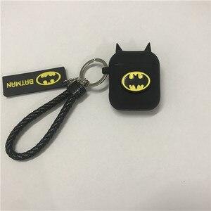 Image 2 - Hot Batman The Dark Knight Auricolare Custodie Per Apple Airpods Auricolare Senza Fili di Bluetooth Della Copertura Del Silicone Per Laria baccelli 2 Accessori
