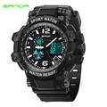 Sanda famosas marcas de cuarzo LED reloj Digital hombres deportes relojes Relogio del Masculino militar choque impermeable reloj de pulsera