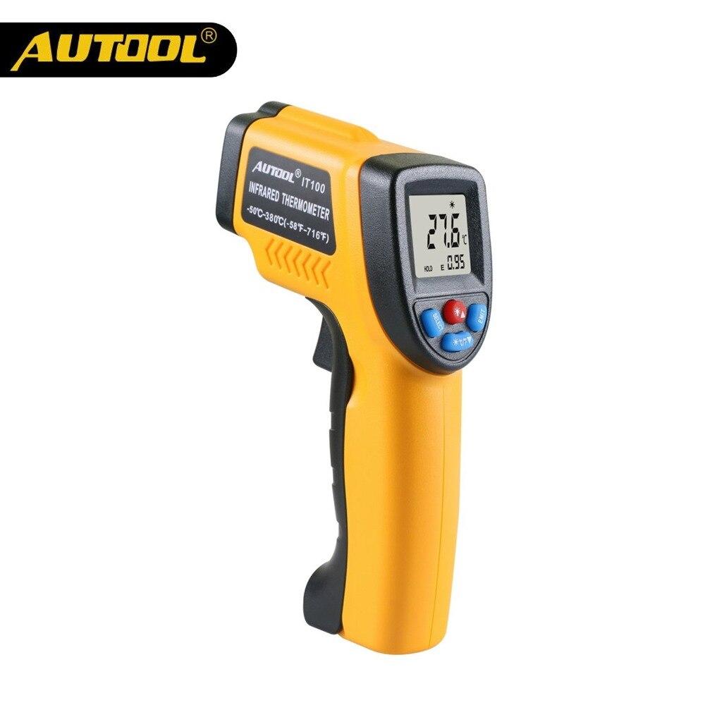 AUTOOL IT100 Thermomètre Infrarouge Sans contact Numérique LCD Affichage Infrarouge Thermomètres Accueil Usage Industriel C/F Même comme GM320