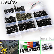 цены на Universal Motorcycle Accessories Fairing Bolts Kit Body Fastener Clips Screws FOR yamaha tmax 500 tmax500 t max 500 2001-2006