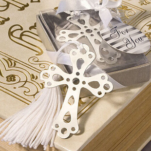 5 Pcs/lot Cute Cross Love Silver Metal Bookmarks Creative Gift For Wedding High Quality Gift Pakage Wholesale Free Shipping