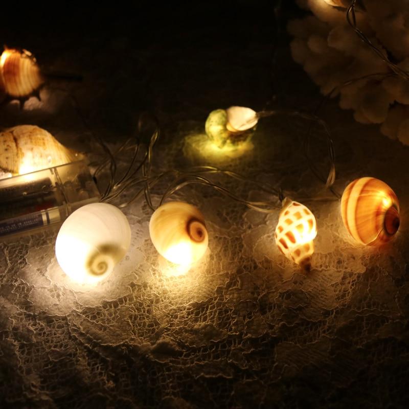 Δωρεάν αποστολή (1pcs / lot) Shell LED φως String - Διακόσμηση σπιτιού - Φωτογραφία 4