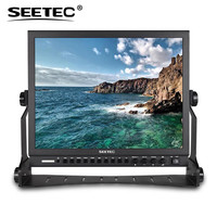 Seetec P150 3HSD 15 Inch Aluminum HD Pro 3G SDI HDMI Broadcast Monitor with Peaking Focus Assist Check Field 15 LCD Monitor