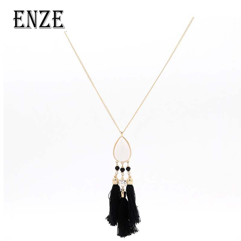 Free shipping fashion Trendy Female jewelry Lady black cotton grit drop shape necklace New Christmas gift Accessories wholesale