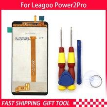 100% מקורי Leagoo כוח 2 pro LCD תצוגה + מסך מגע עצרת ForLeagoo כוח 2 פרו + כלים + 3 M דבק