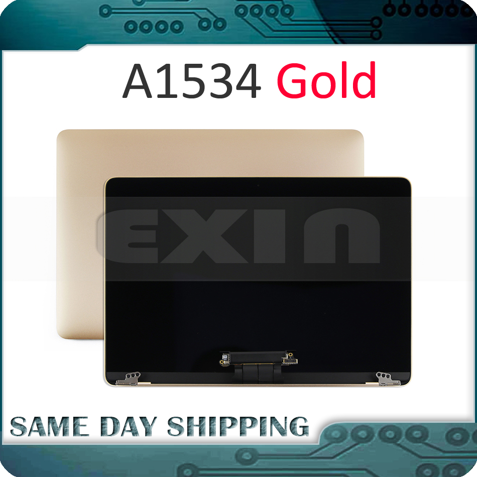 купить NEW!!! Gold Golden Color A1534 LCD Screen Display Assembly for Macbook Retina 12'' A1534 Top Full Assembly 2015 2016 2017 Year недорого