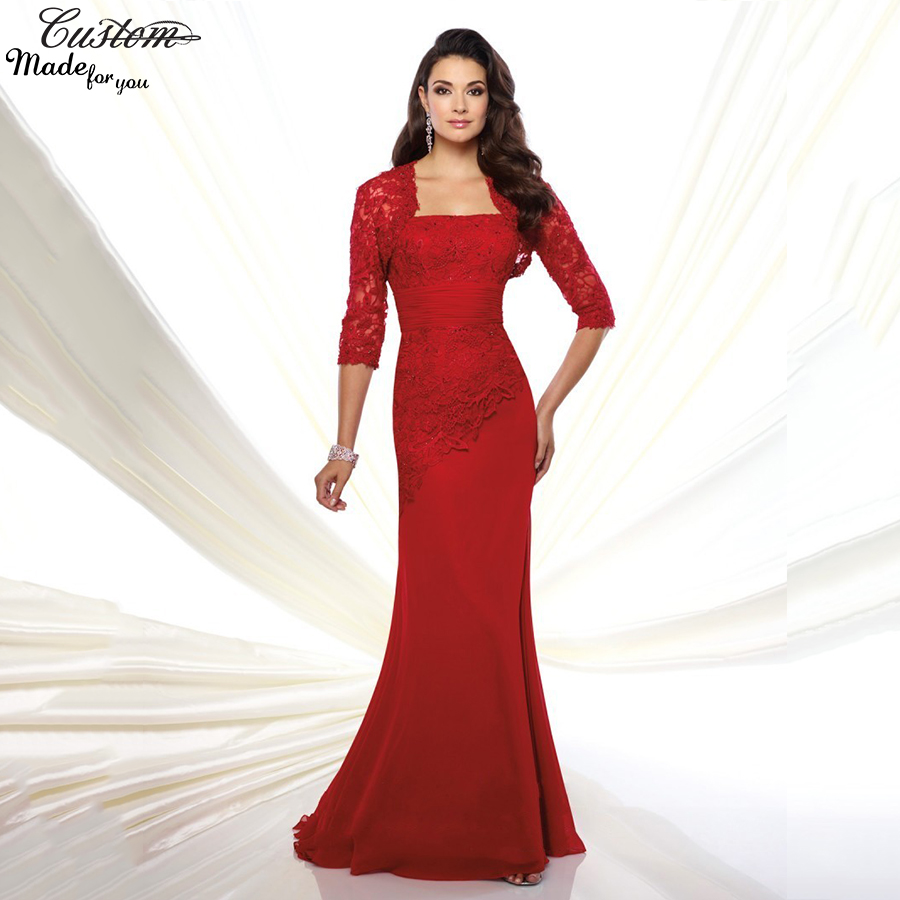 Gorgeous Evening Gowns Plus Size Chiffon Pant Suits Red Mother Of The Bride L