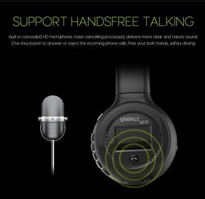 Image 5 - Słuchawki bezprzewodowe z bluetooth zestaw słuchawkowy Stereo HiFi z mikrofonem Radio FM karty Micro SD gra dla iphone huawei samsung